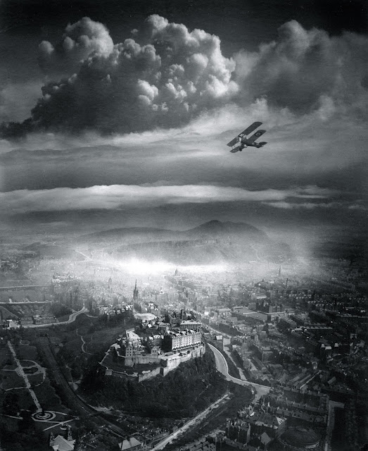 Aerial View of Edinburgh, by Alfred G. Buckham, 1920