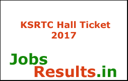 KSRTC Hall Ticket 2017
