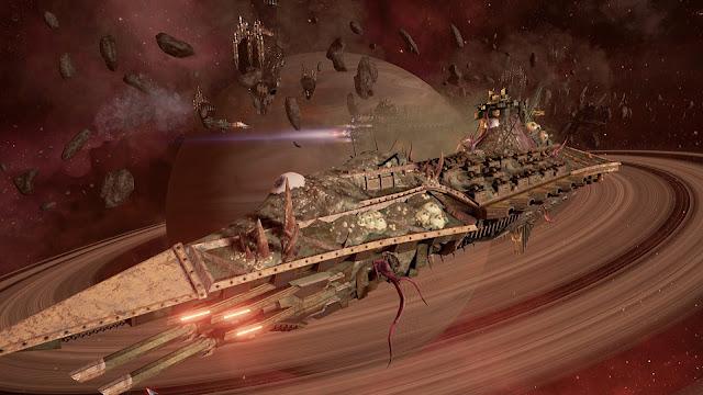 Review – Battlefleet Gothic: Armada chaos nurgle plagueship