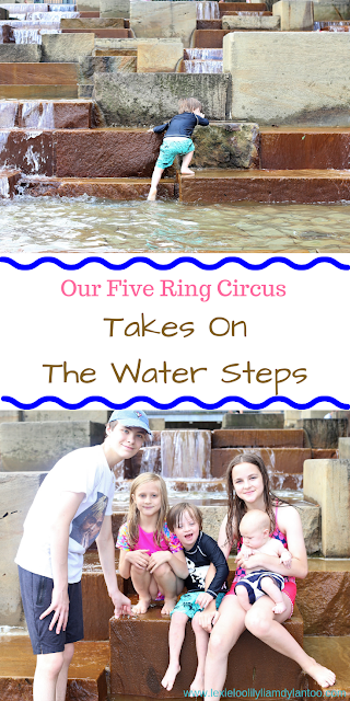 Our Five Ring Circus Takes On The Water Steps at the North Shore Riverfront Park in Pittsburgh