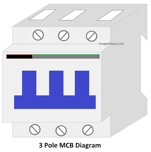 3 pole mcb diagram, diagram of 3 pole mcb