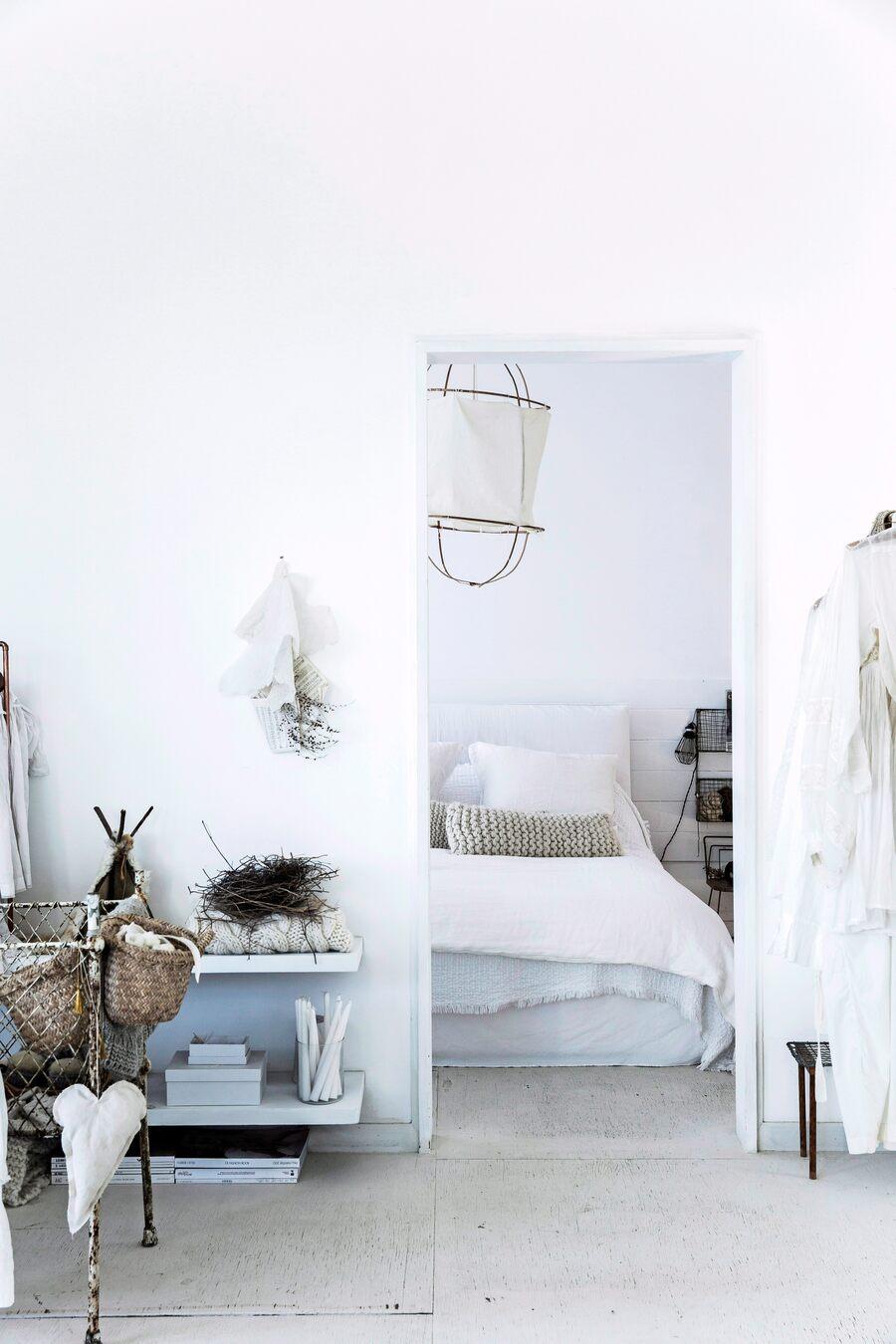 Dormitorio blanco de ensueño en Australia