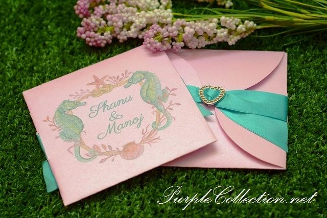 Seahorse Pink Petal Fold Wedding Invitation Card, pearl, perfume, envelope, beach, sand, elegant, mint green, satin ribbon, acrylic heart buckle, silver, indian, malay, chinese, red, kuala lumpur, malaysia, selangor, petaling jaya, shah alam, klang, bangsar, mont kiara, setapak, pahang, kuantan, bentong, melaka, johor bahru, penang, ipoh, perak, kelantan, kedah, perlis, sabah, sarawak, kota kinabalu, kuching, miri, bintulu, sandakan, australia, melbourne, sydney, NSW, perth, brisbane, canberra, tasmania, canada, vancouver, ontario, USA, new york, california, cetak, kad kahwin, personalised, personalized, handmade, hand crafted, cute, one of its kind, zazzle, custom design, floral, flower, peonies, peony, china, export import,