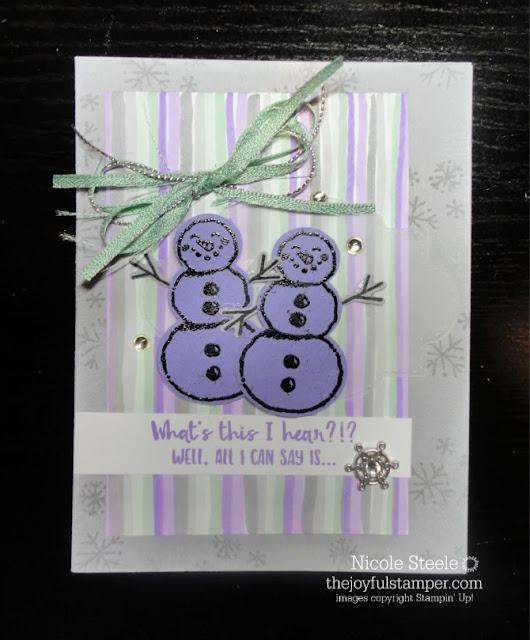 Snowman Season birthday card for Handstamped Sentiments winter inspiration challenge