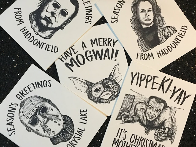 5 Unique Holiday Cards for Movie/Horror Lovers