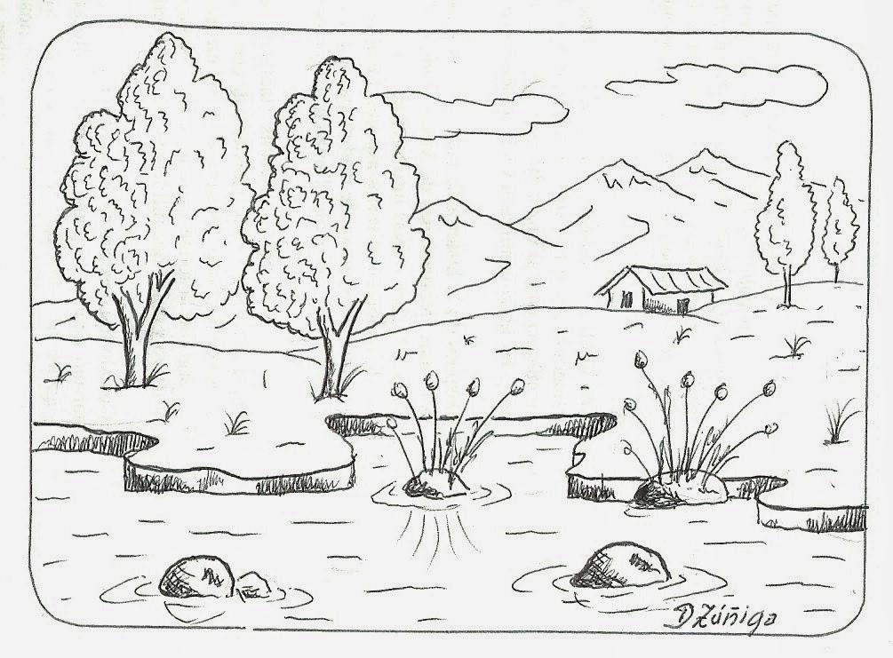 Dibujos De Paisajes Faciles Para Dibujar Bild Paisajes