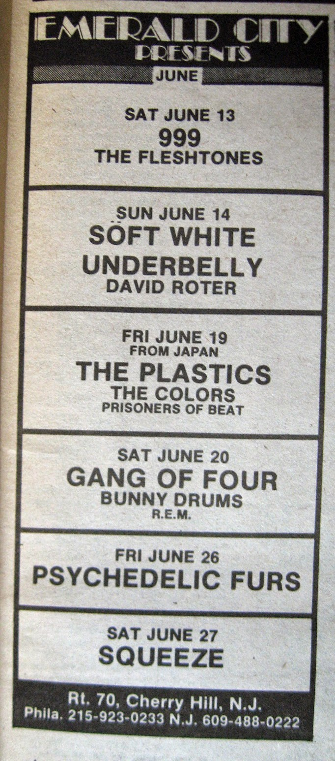 Emerald City band line up June 1981