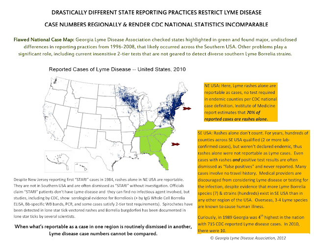 Lyme Disease Usa Map.South S Faulty Reporting System Florida Lyme