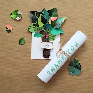 Mixed media tree teachers card + FREE printable