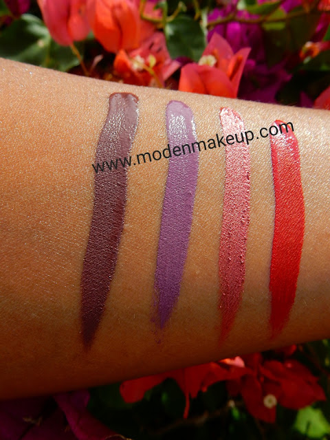 ColourPop Liquid Lipsticks swatches - www.modenmakeup.com