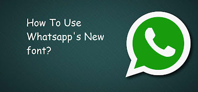 How to use Whatsapp's Secret font