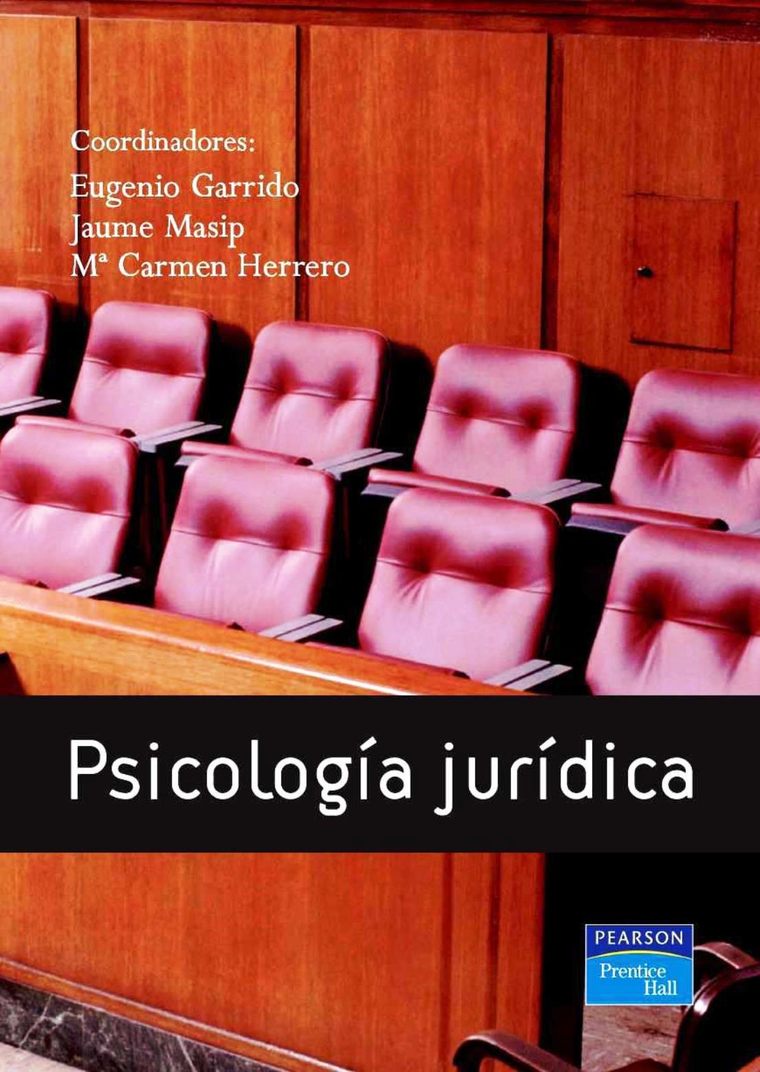 Psicología jurídica – Eugenio Garrido
