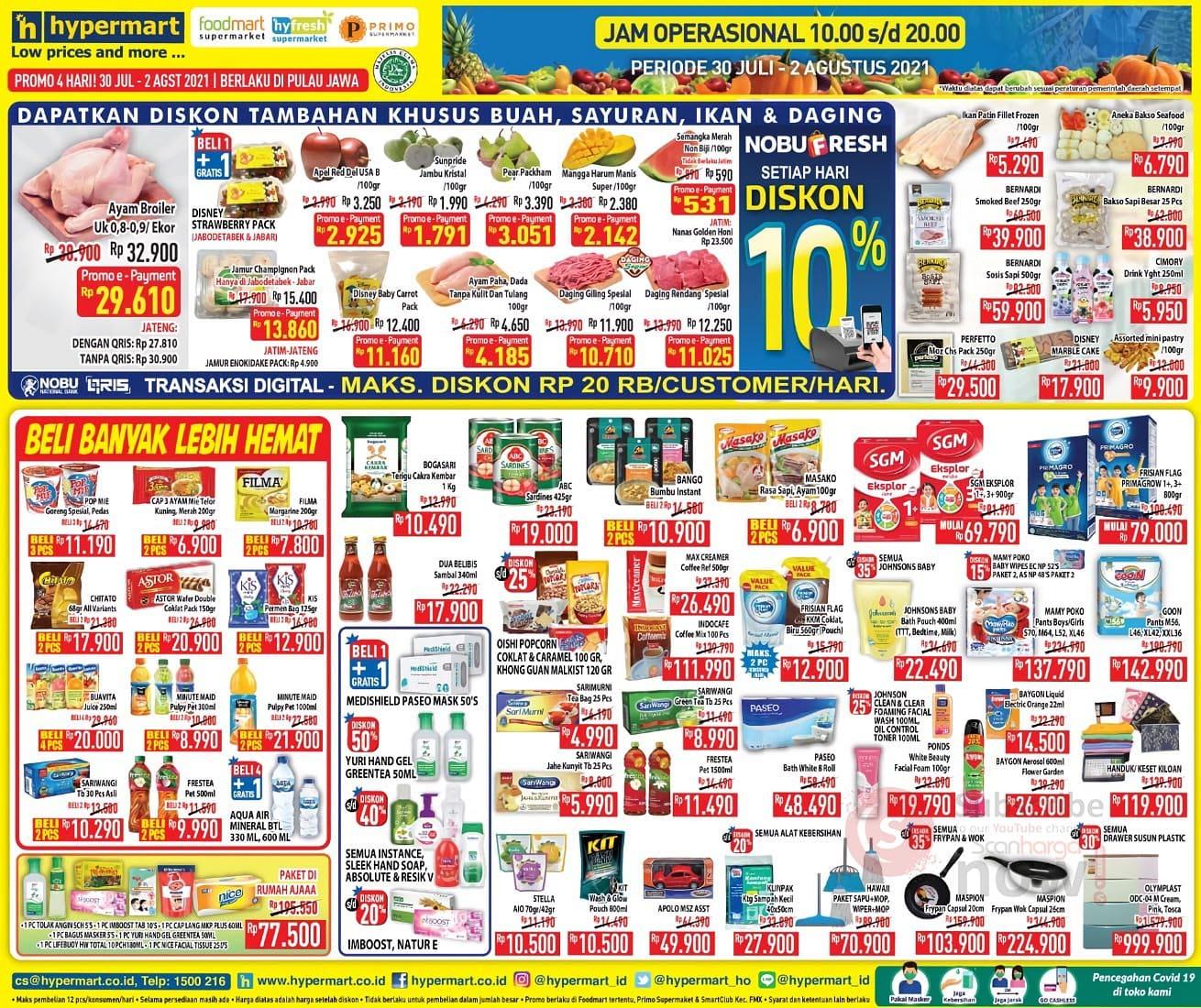 Katalog Promo Hypermart Weekend 30 Juli - 2 Agustus 2021 1