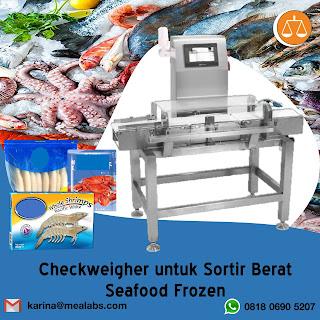 Checkweigher untuk Seafood Frozen