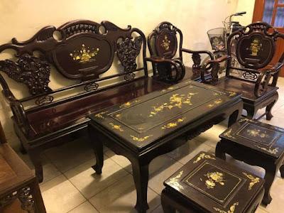 bàn ghế gỗ trắc đẹp