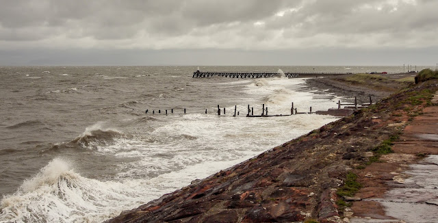 Photo of the view along the coastal path towards Maryport pier
