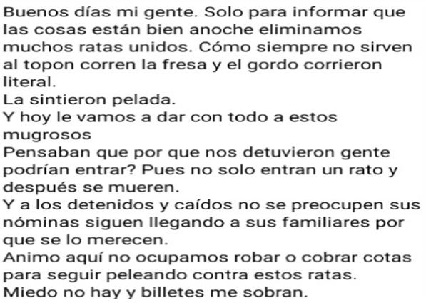 """El CJNG se burla de la masacre a Cárteles Unidos en Michoacán"""" y a familiares de sus caídos les dice no se preocupen la Nomina no les va a faltar"""