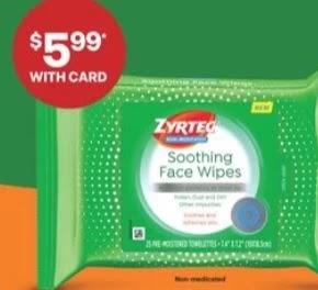 Zyrtec Face Wipes CVS Deals