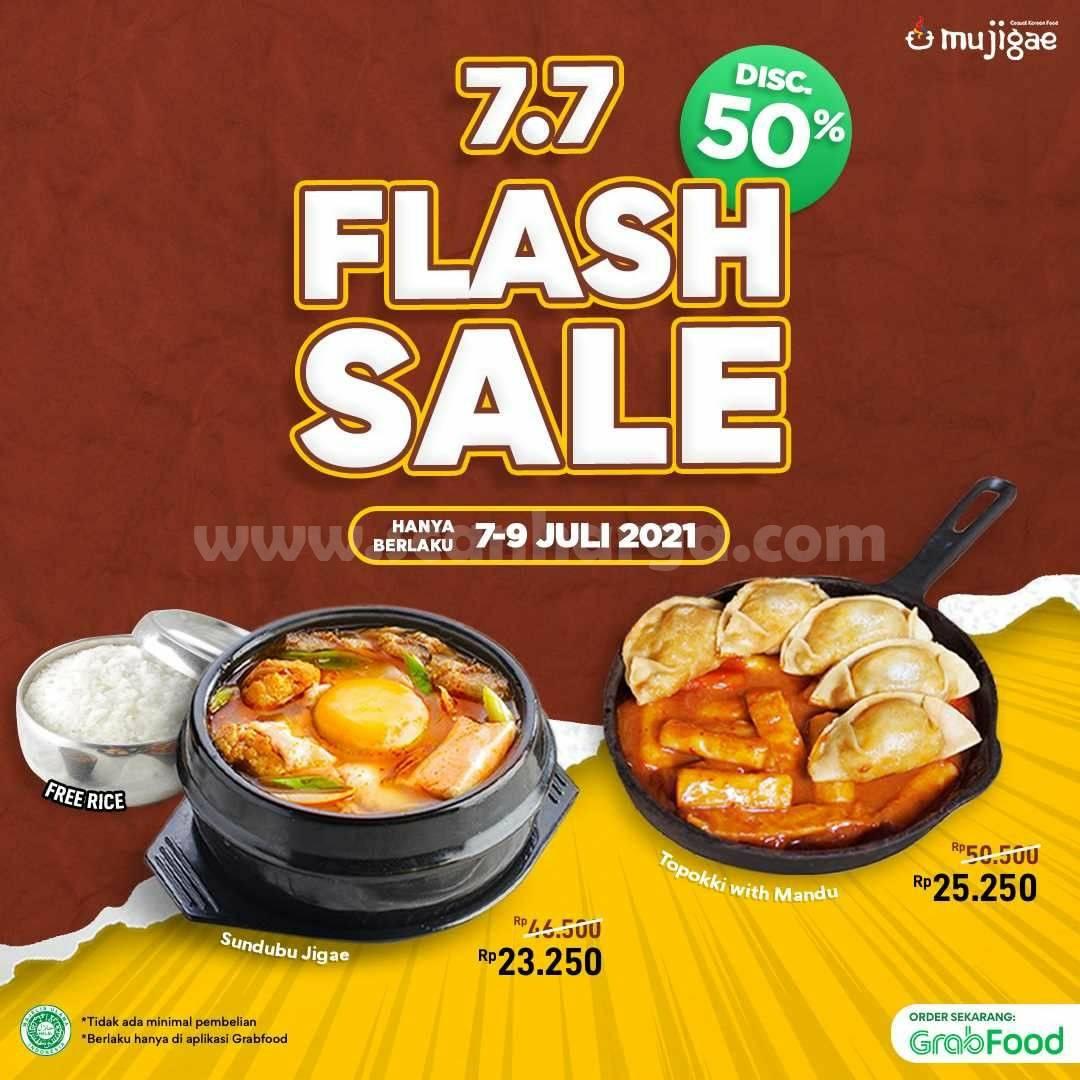 Mujigae Promo Flash Sale 7.7 Diskon hingga 50% via Grabfood