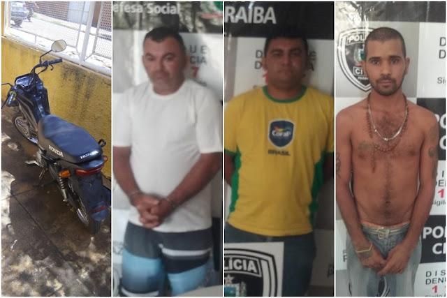 PC de Catolé do Rocha prende três homens acusados de assaltos a postos de gasolina
