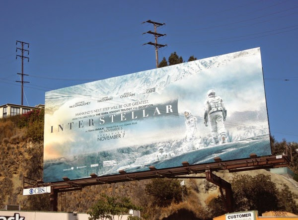 Interstellar film billboard
