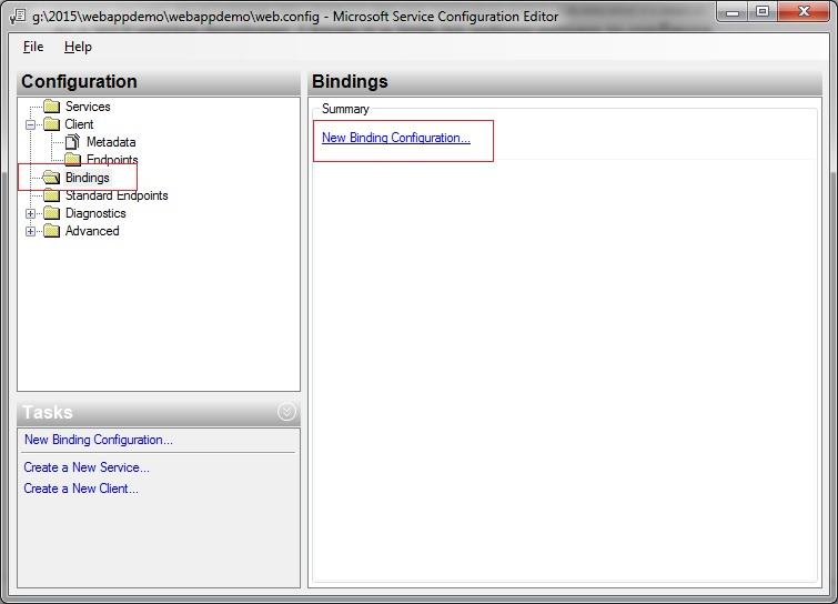 WCF : Service Configuration Editor « ASPDotNetChamp Com