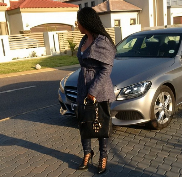 Boity's mother and the car