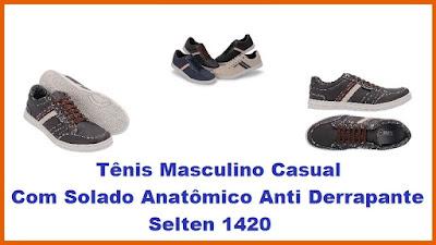 8dce174a2 Tênis Masculino casual Selten 1420 - Estilo