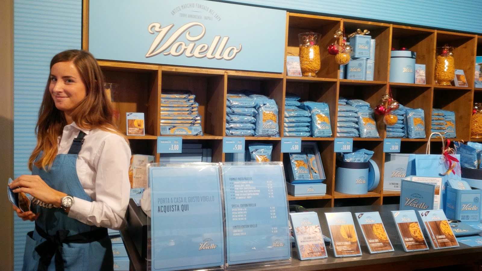 A pop-up pasta shop at Taste of Christmas event in AMO, Verona
