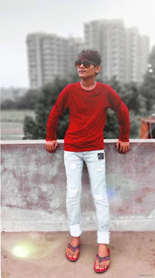 Stylish Photo Pose For Boy On Terrace