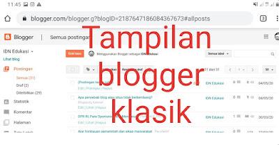 Tampilan blogger klasik