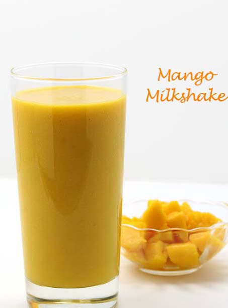 Recipe: Put mango, milk, water and sugar into the blender and blend them thoroughly, then put some ice and blend them again thoroughly. Pour the drink into the glasses and put some grinded ice and small mango cubes into it. Now present it to your family members and guest with pride.