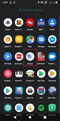 Pertama, Sobat download aplikasi Octopus. Sobat bisa download aplikasinya di PlayStore.