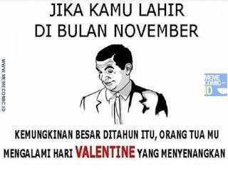 Meme Comic Indonesia terbaru Lucu Valentine