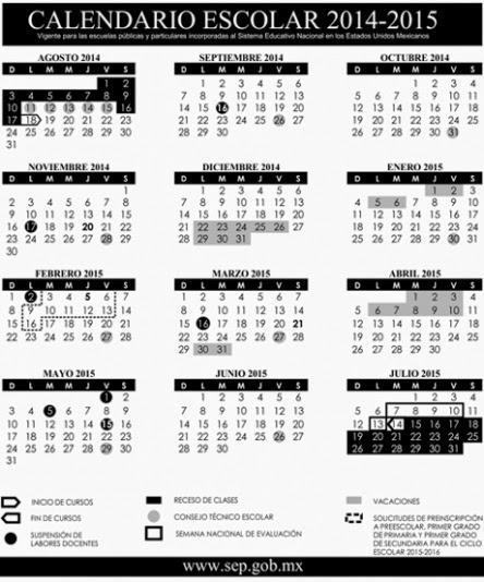 Bamba Política: Publican calendario escolar 2014-2015