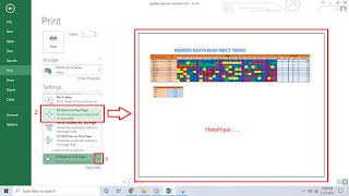 cara Print Excel agar tidak terpotong dan rapi serta besar