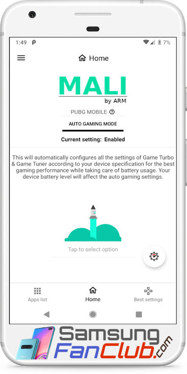 Gamers GLTool Pro App Game Turbo & Game Tuner for Android Samsung Galaxy S10 Plus