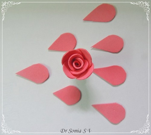 Cards crafts kids projects handmade foam rose flower tutorial foam rose tutorial mightylinksfo