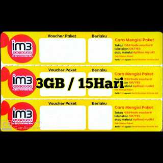 Data Im3 3GB/15HARI