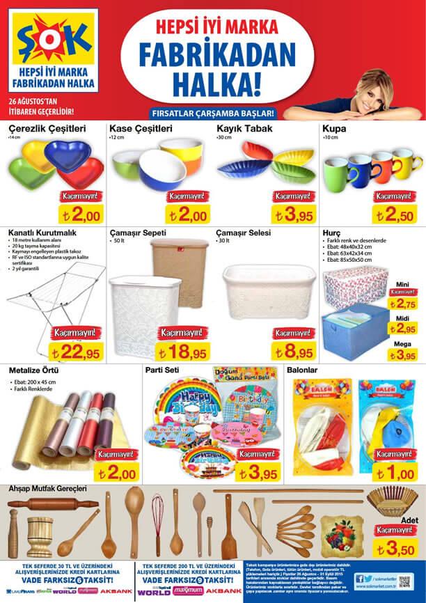 Şok Market 26 Ağustos 2019 Kataloğu Enfes Yemek Tarifleri