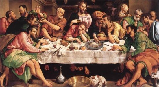 El error de la Última Cena y las naranjas -- Jacopo Bassano