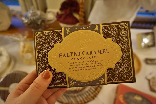 Salted caramel chocolates from Bettys
