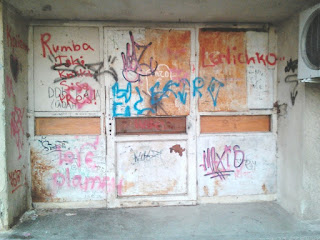 Entrance, Yambol, Apartment Blocks, Graffiti,