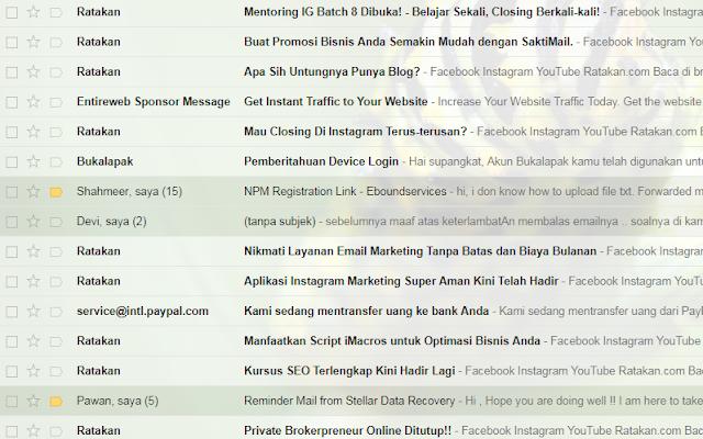 menghentikan email masuk