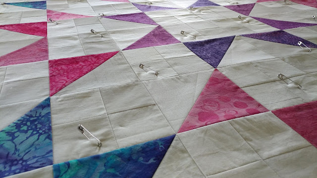 Modern Jacob's Ladder quilt using Island Batik fabrics