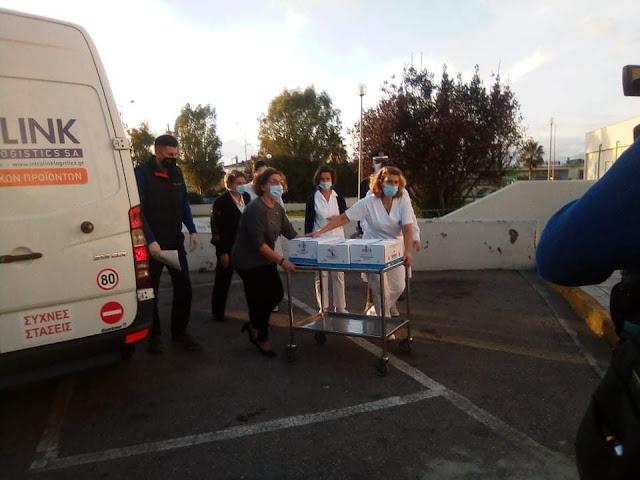ΠΑΡΤΙΔΕΣ με εμβόλια έφθασαν και στο νοσοκομείο Καλαμάτας