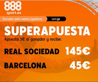 888sport superapuesta liga Real Sociedad vs Barcelona 14 diciembre 2019