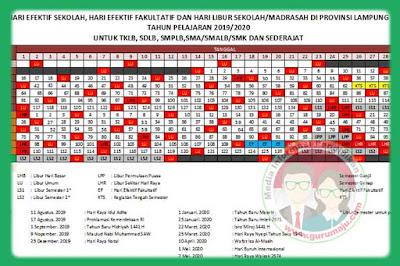 Kalender Pendidikan 2019/2020 Lampung RESMI