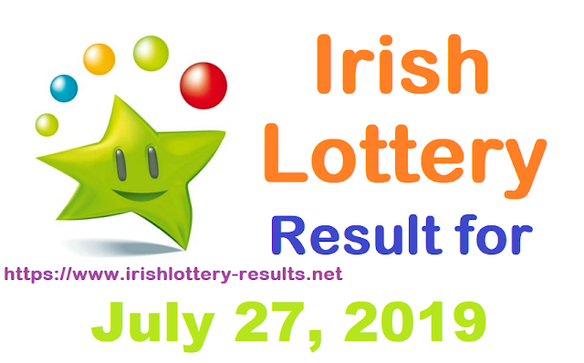 Irish Lottery Result for Saturday, July 27, 2019