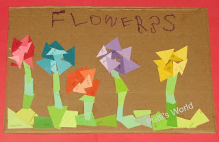 Kids Flower Spring Crafts Paint Chip Recycled